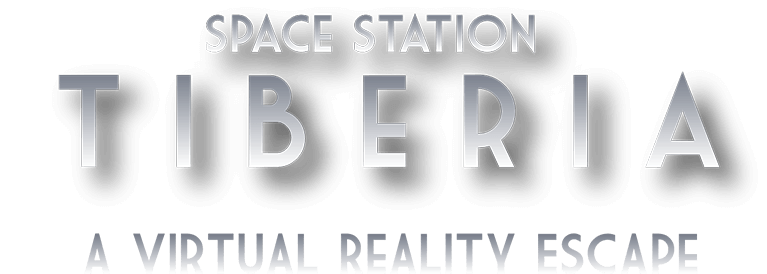 Logo for Space Station Tiberia, a virtual reality escape